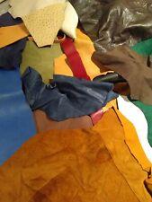 1 lb Bulk Scrap Leather Trimmings various Color & weight Craft Pieces bulk
