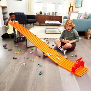 Race Track Set Super 6 Lane Raceway Die Cast Metal Plastic Ultimate Vehicle Toys