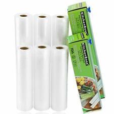"New listing KitchenBoss Vacuum Sealer Rolls Bag, 6 Pack 8""x16.5' and 11""x16.5' Food Saver Ba"