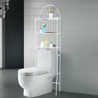 3-Tier Bathroom Toilet Rack Space Saver Metal Towel Storage Shelf Rail Organizer