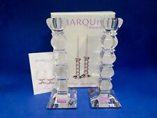 """Marquis By Waterford TORINO CANDLESTICK 8"""" PAIR NEW IN BOX"""