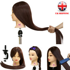 "Hairdressing Training Head 30"" 100% Synthetic Hair Mannequin Doll With Clamp"
