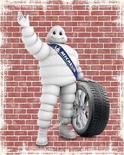 "10"" x 8"" MICHELIN MAN TYRE CAR MOTORCYCLE GARAGE WORKSHOP METAL SIGN PLAQUE 1414"