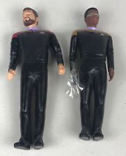"Set of 2 Star Trek Generations Riker & Laforge 10"" Vinyl Figure Applause 1994"
