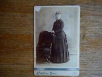 Woman Dress Antique Cabinet Photo Hawkins Bro 1890's ? Farmhouse decor unknown