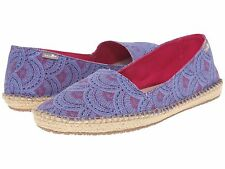 NEW sanuk 7.5 8 39 SANDAL FLIP FLOP SHOE SLIP ON LOAFER Natal Blue