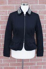 I.N.C.International Concepts Black Blazer Embellished Black Women's Size PP