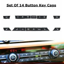 Set 14 Button Key Caps Repair Kit A/C Heater Switch For BMW 5 6 7 F10 F12 F01