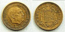 ESTADO ESPAÑOL 1 PESETA 1947*19-54 MADRID XF-/EBC- ESCASA ASI