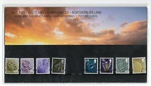 GB 2007 Four (4) Regions Definitives Presentation Pack No. 76 VGC stamps