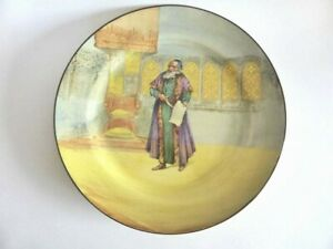 """Royal Doulton """"Shylock"""" Shakespeare Series Dinner Plate, Beautiful Antique Plate"""