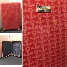 """NEW Jessica Simpson Red Anchor Luggage Hardcase Suitcase 29"""" Spinner Travel"""