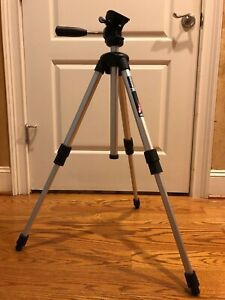 Bogen Manfrotto 3405 Jr Camera Tripod #390 Head No Mounting Plate Made in Italy