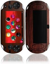 Skinomi Dark Wood Skin Cover+Screen Protector for Sony Playstation Vita 3G
