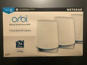 NEW NETGEAR Orbi WiFi 6 Mesh System AX4200 RBK753 NAS RBK753S RBK753R free shipp