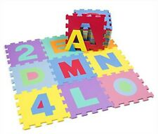 Puzzle Mat for Children Soft 36 Pieces 26 Letters Numbers 0 9 Colorful