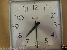 Vintage Simplex Wall Clock Convex Glass School Industrial Garage #804-006 8335