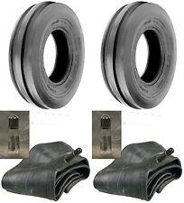 TWO 6.50-16 6.50X16 650-16 Tri-Rib 3 Rib 6PR Tractor Tires & Tubes Heavy Duty