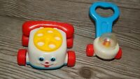 VINTAGE McDonald's Fisher-Price Mini Chatty Rotary Phone Lot Happy Meal Toys