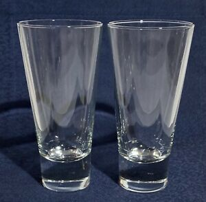 Set of 2 - Vintage Bormioli Rocco - YPSILON - Highball Glasses -Thick Base Clear