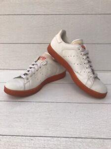 Adidas Originals Stan Smith White / Orange Sole  & Highlights Men's Sz 10 Rare