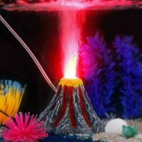 Aquarium Aquarium Dekoration Vulkan Stil Ornamente mit LED-Licht E8G0