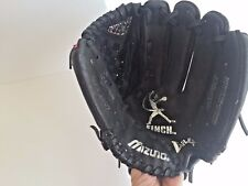 "Mizuno Leather Finch black & pink softball mitt glove 10"" Gpp1007 Prospect"
