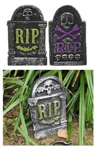 Scary Tombstone 26cm Gravestone Outdoor Halloween Decoration Prop Graveyard