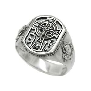 Jesus Crist Celtic Style Cross Sterling Silver 925