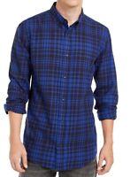 Levi's Mens Shirt Blue Size Medium M Button Down Plaid Long Sleeve $59 #086