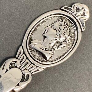 John Westervelt Medallion Coin Silver Preserve Spoon Newburgh New York Sterling