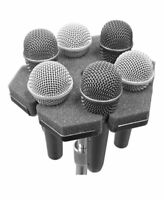 SOFTPOD soft microphone holder holds 6 mics on standard mic stand top Mount