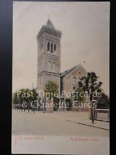 London: Battersea, St. Lukes Church, Nightingale Lane, Old Postcard