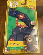 BUILD A BEAR OUTFIT NEW DENIM DRESS SET 2 PC HASBRO 2004 TARGET EXCLUSIVE TEDDY*