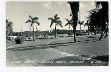 Yacht Basin RPPC Delray Beach FL Rare Vintage Boat Photo ca. 1951