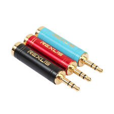 3.5 mm Male to 6.5 mm Female Audio Sterio Microphone Jack Adapter Converter Plug
