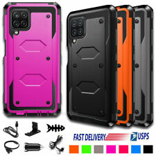 For Samsung Galaxy A12 Case Shockproof Armor Rugged Hard Phone Cover+Accessories