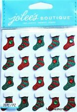 CHRISTMAS STOCKING REPEATS Jolee's Boutique 3-D Glitter Stickers Stockings