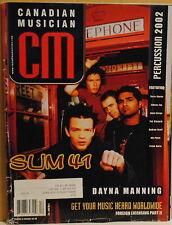 Sum 41, Dayna Manning Nov 2002 Canadian Musician magazine