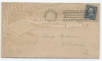 1895 Philadelphia PA J.B. Lippincott co. allover ad cover [y4096]