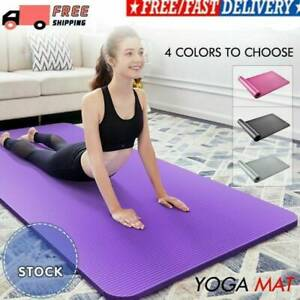 15mm Fitness Thick Yoga Pad Exercise Pilates Camping Gym Meditation Non-Slip Mat