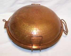 """Beautiful Hammered Copper Seafood Steamer Cataplana 11"""" EUC VERY CLEAN!!!"""
