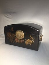 Antique Chinese Chest - Fabulous Asian Box - Handpainted Collectible