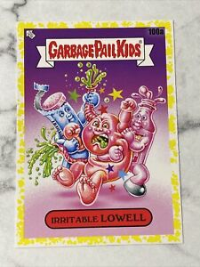 2021 Garbage Pail Kids Food Fight Yellow Border Parallel IRRITABLE LOWELL #100a