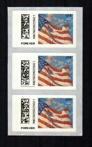 APC / SSK / CVP / ATM - USA #CVP91 strip of 3 with 1 missing FOREVER