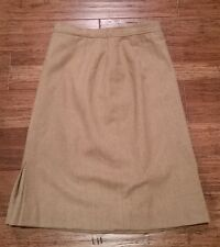 Vintage Pendleton Pencil Skirt Size 10 Petite 100% Virgin Wool Tan EUC!!