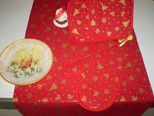 SET CUCINA  , runner,guanto forno e 2 presine , kitchen set CHRISTMAS
