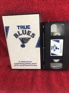 TRUE BLUES Rare Documentary St. Louis Blues HOCKEY VHS 1986 Never on DVD!!