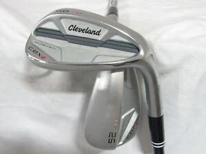 Used RH Cleveland CBX 2 Satin Chrome 52* 56* Wedge Set - Wedge Flex Graphite