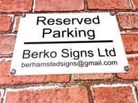 PERSONALISED LARGE ACRYLIC PRIVATE NO PARKING KEEP CLEAR SIGN WEATHER PROOF